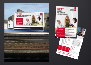 Outdoor posters advertising Business and Law courses