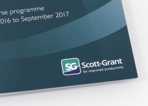 Scott-grant logo on cover of training brochure cover