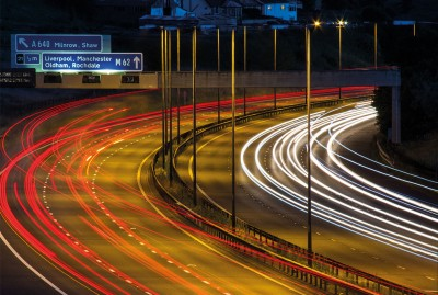 Rochdale M62 long exposure image