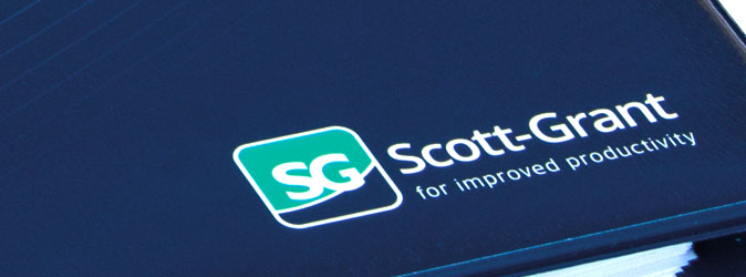 image of folder with Scott-Grant logo in corner