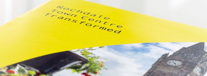 section of brochure front cover for Rochdale in bloom