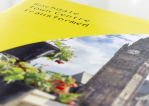 Close up of Rochdale in bloom brochure front cover