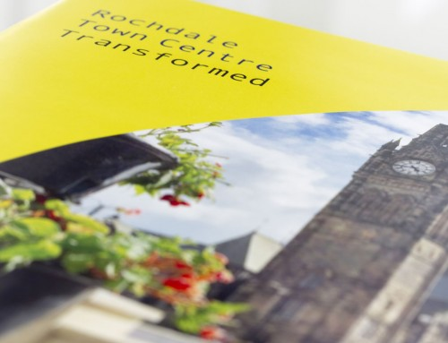 Brochure design for Rochdale Town Centre 'In bloom' portfolio