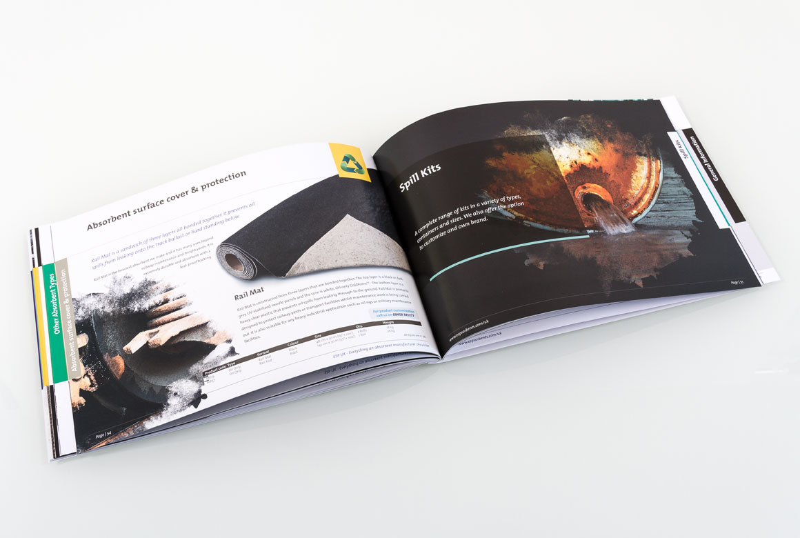 A spread from the ESP UK brochure