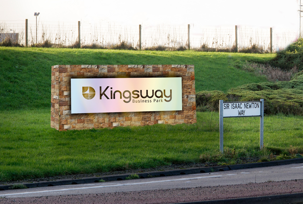 photoshop visual of the Rochdale Kingsway Business Park sign